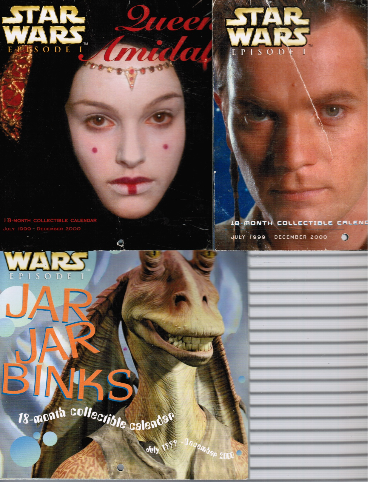 Image for Star Wars Episode I: Set of 3 Calendars : Queen Amidala; Obi-Wan Kenobi and Jar Jar Binks