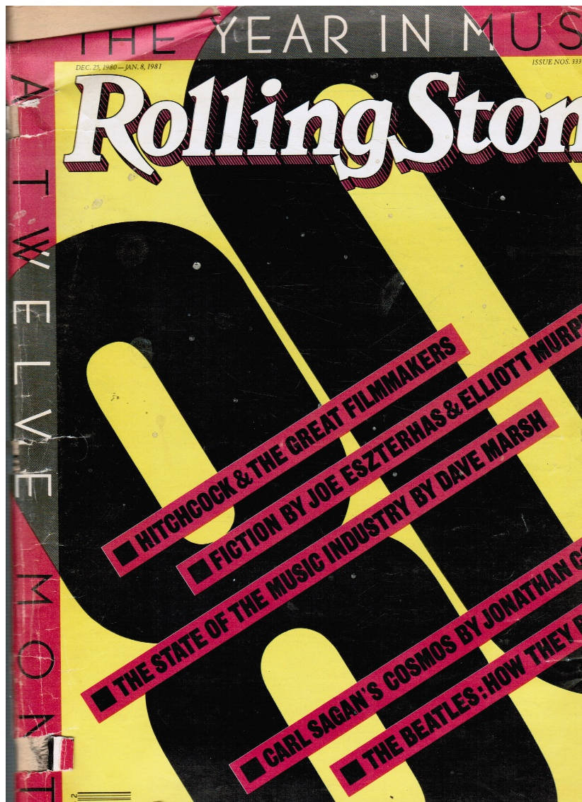 Image for Rolling Stone Magazine Issue # 333/334 December 25th, 1980-January 8th, 1981--Double Issue The Beatles, Hitchcock, Carl Sagan