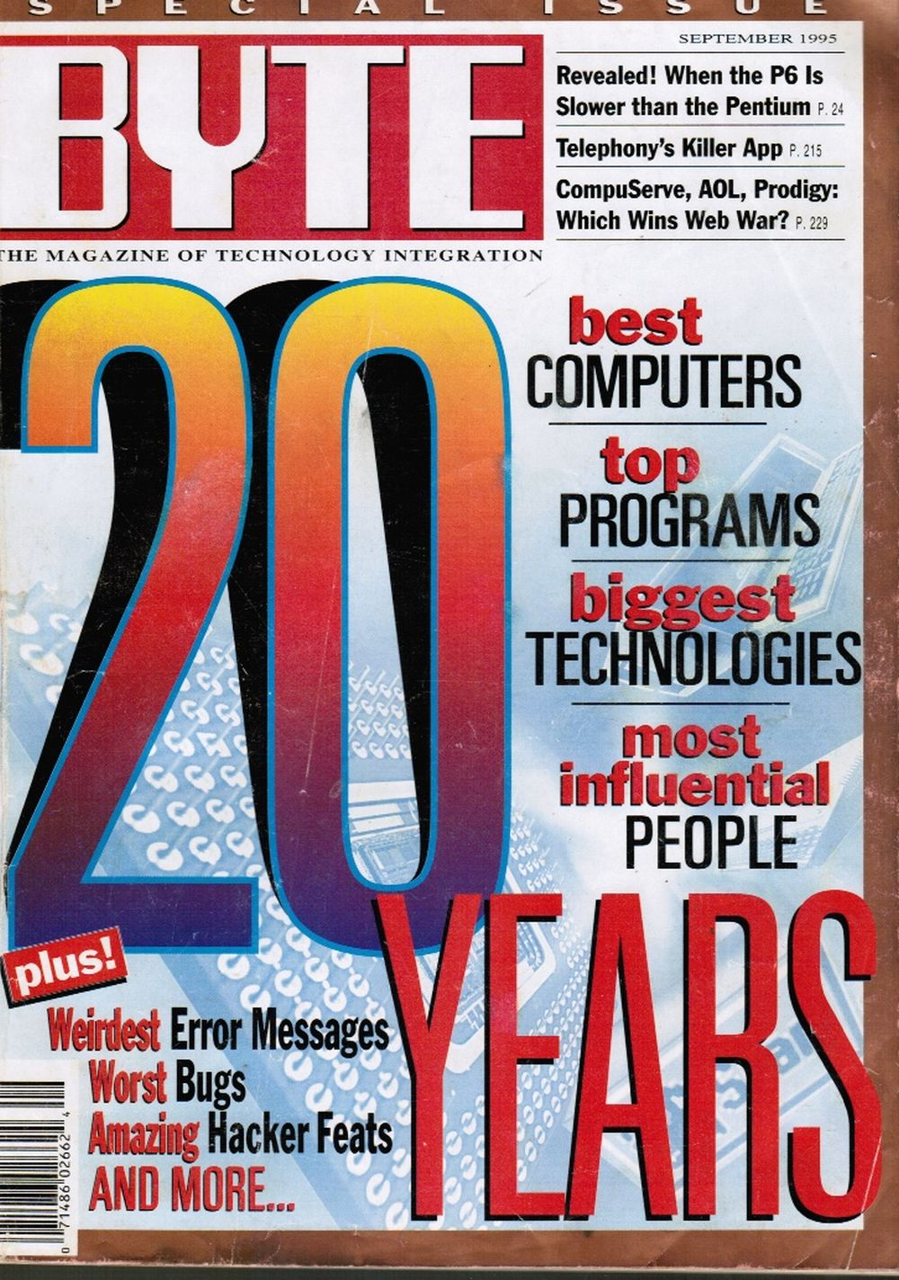 Image for BYTE Magazine - September 1995: 20th Anniversary Special Issue