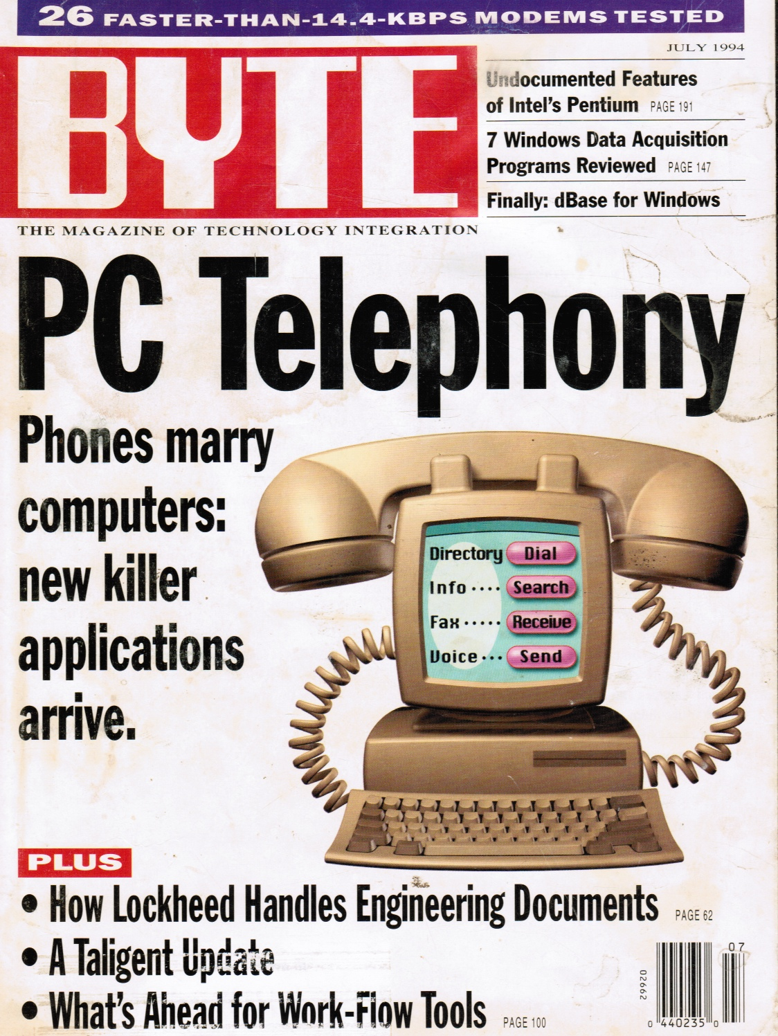 Image for BYTE Magazine - July 1994; Vol 19, No 7