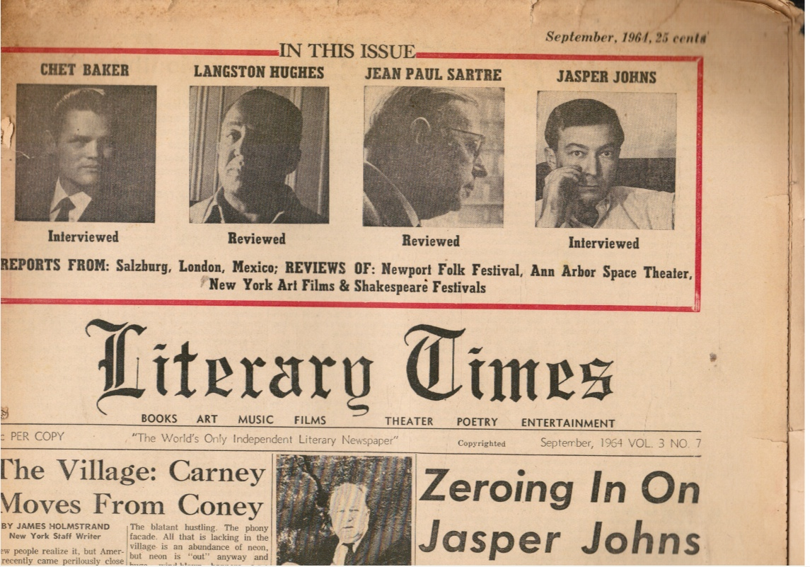 Image for Literary Times: September 1964, Vol 3 No 7
