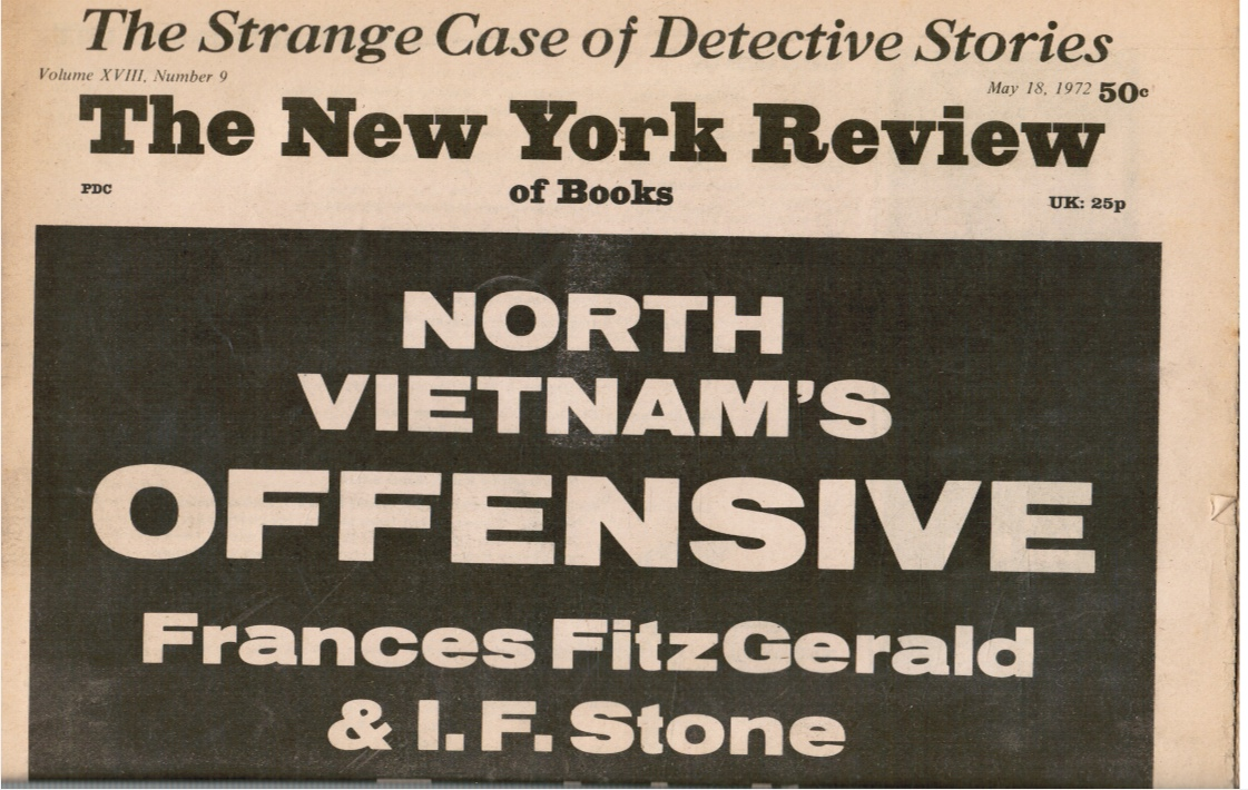 Image for 1972 - the New York Review of Books: May 18, 1972 North Vietnam's Offensive (Cover)