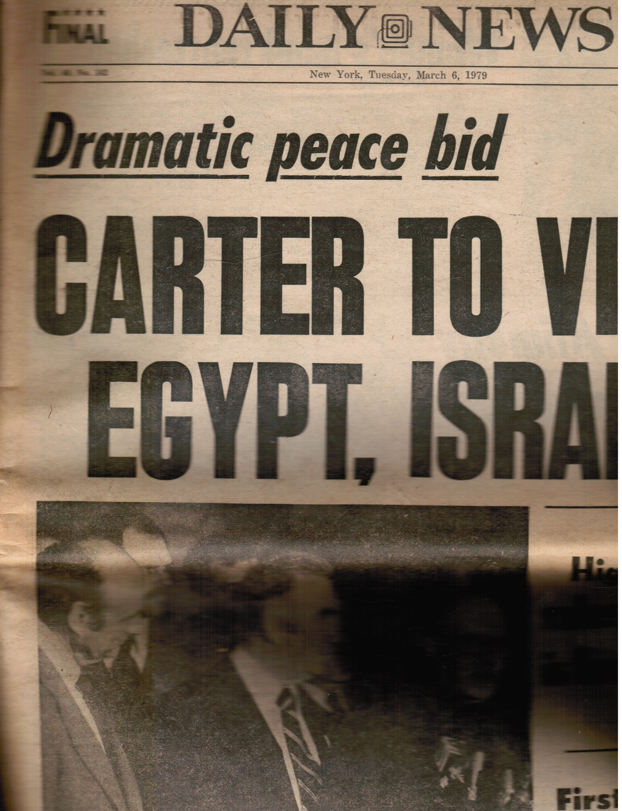 Image for New York Daily News: March 6, 1971 (Jimmy Carter to Visit Egypt, Israel) Sarah Jessica Parker, Jimmy Breslin, Voyager I, Rudi Stern, Jupiter