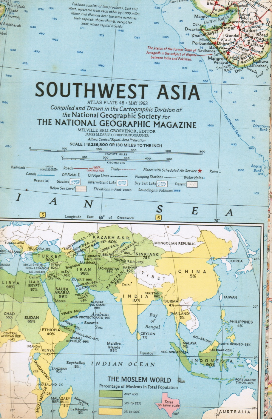 Image for National Geographic Map - Southwest Asia