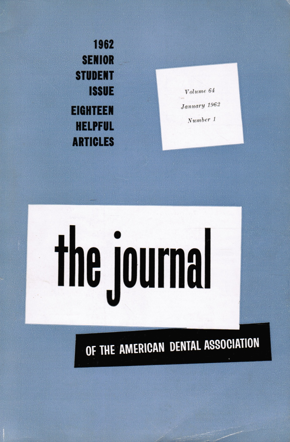 Image for The Journal of the American Dental Association: Jan 1962