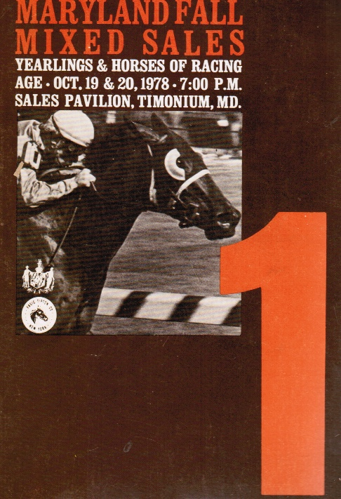 Image for Maryland Fall Mixed Sales:  Yearlings & Horses of Racing Age - Oct 19 & 20, 1978, Timonium, MD