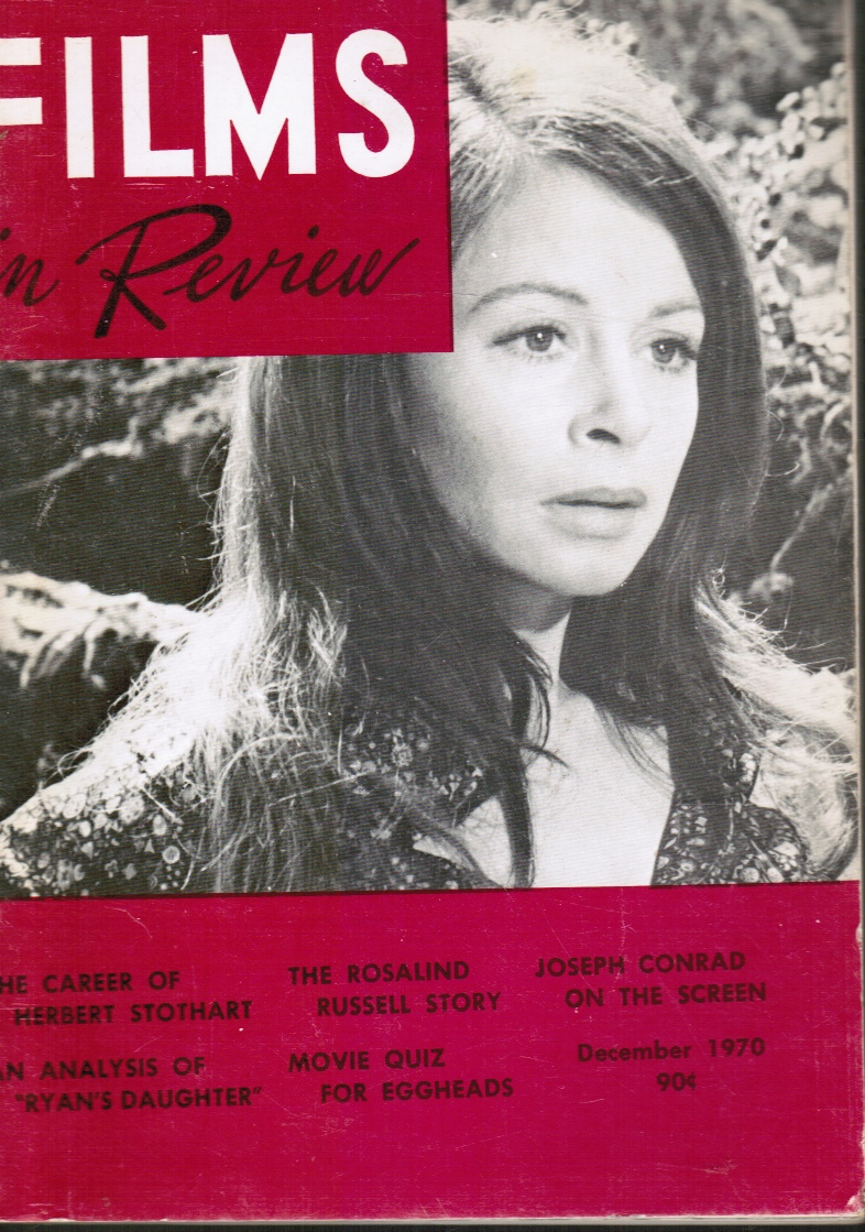 Image for Films in Review December, 1970 Sara Miles in Ryan's Daugther, Cover