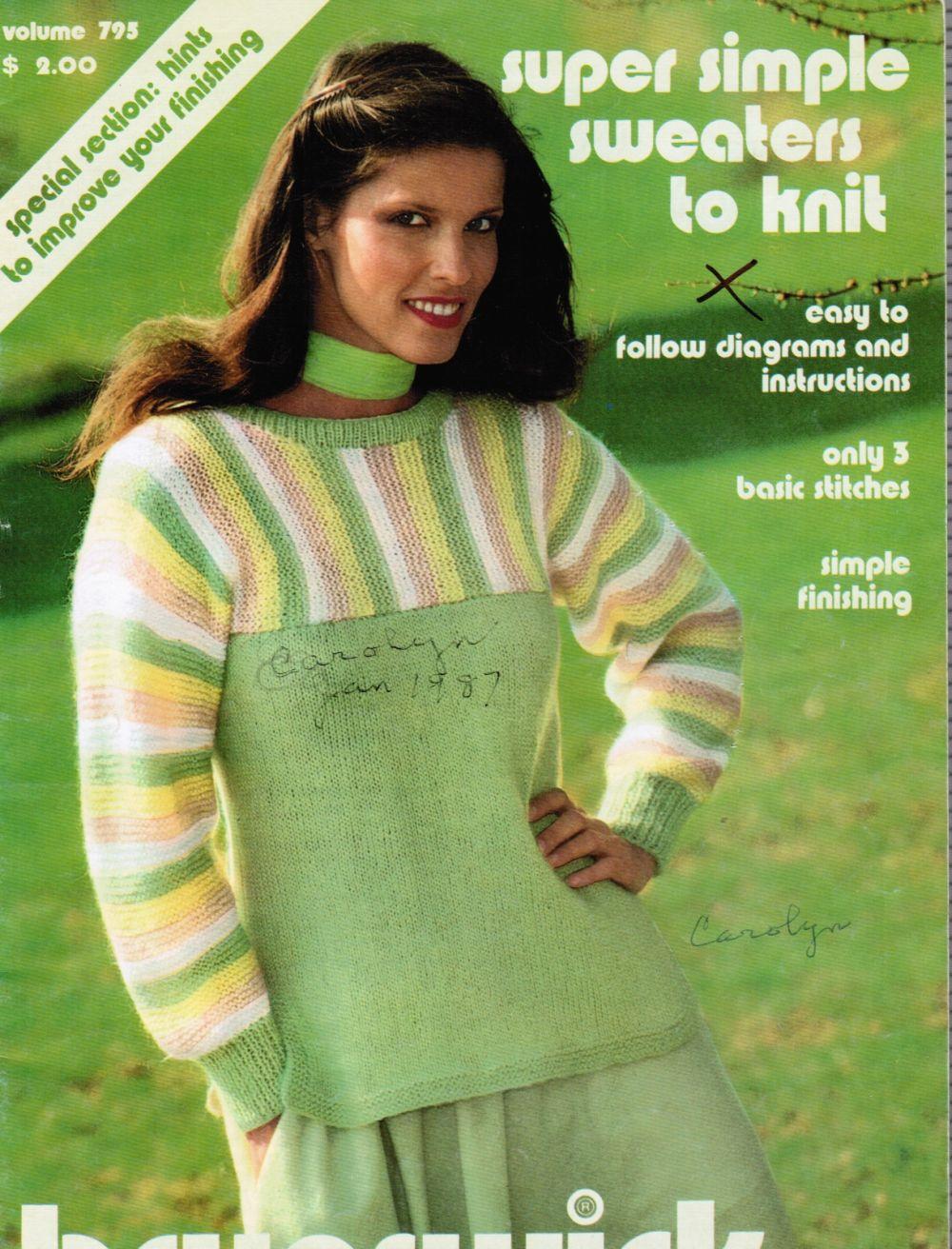 Super Simple Sweaters to Knit -- Volume 795 Brunswick