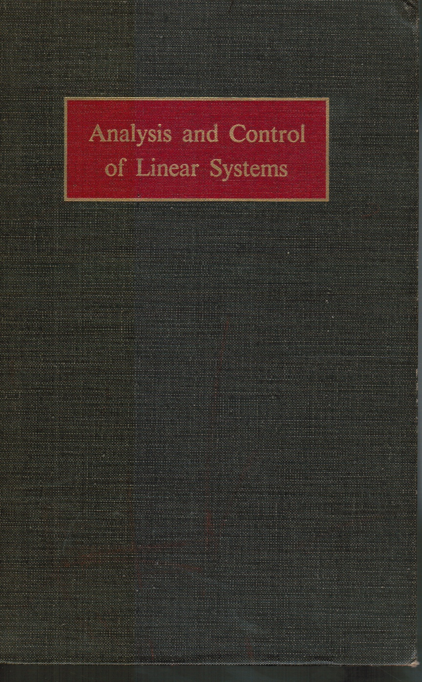 Image for Analysis and Control of Linear Systems