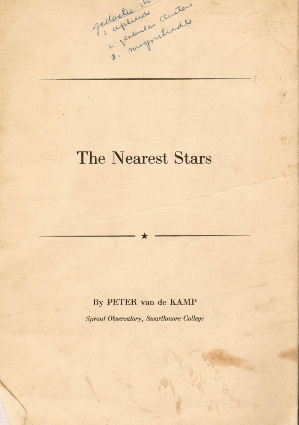Image for The nearest stars