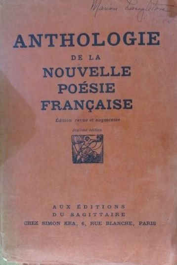 Image for Anthologie De La Nouvelle Posie Franaise