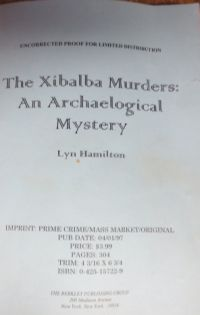 Image for The Xibalba Murders (Uncorrected Proof)