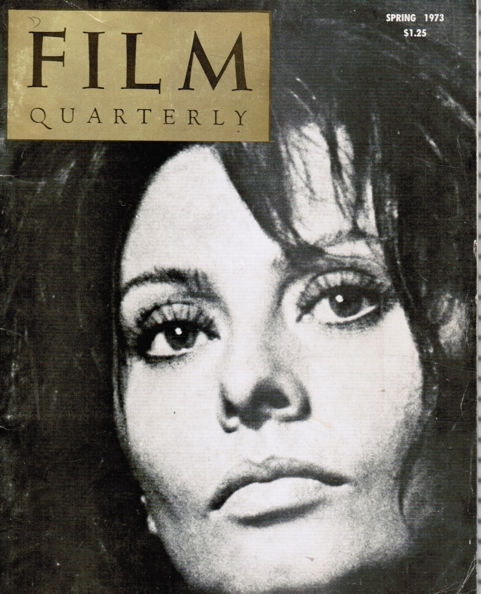 Image for Film Quarterly: Spring 1973 Sophia Loren, Cover