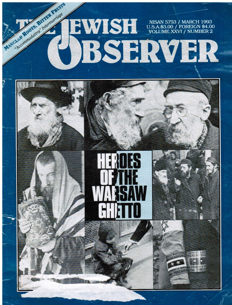 Image for The Jewish Observer: March 1993 Heroes of the Warsaw Ghetto (Feature)