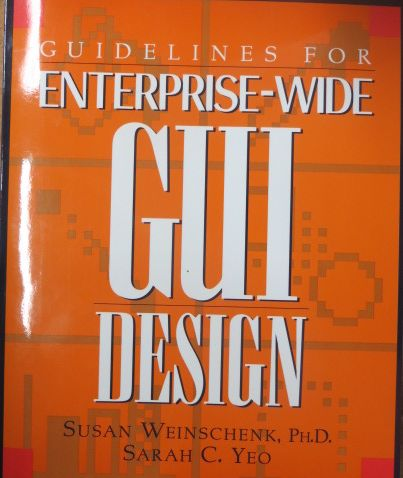 Image for Guidelines for Enterprise-Wide Gui Design