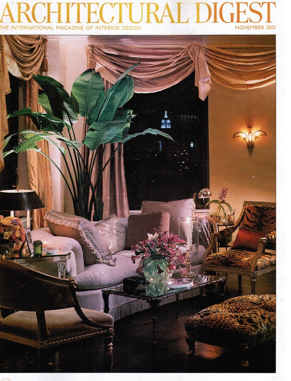 Image for Architectural Digest November 2001 Mariah Carey Living Room (Cover)