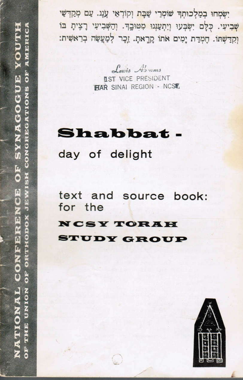 Image for Shabbat -- Day of Delight