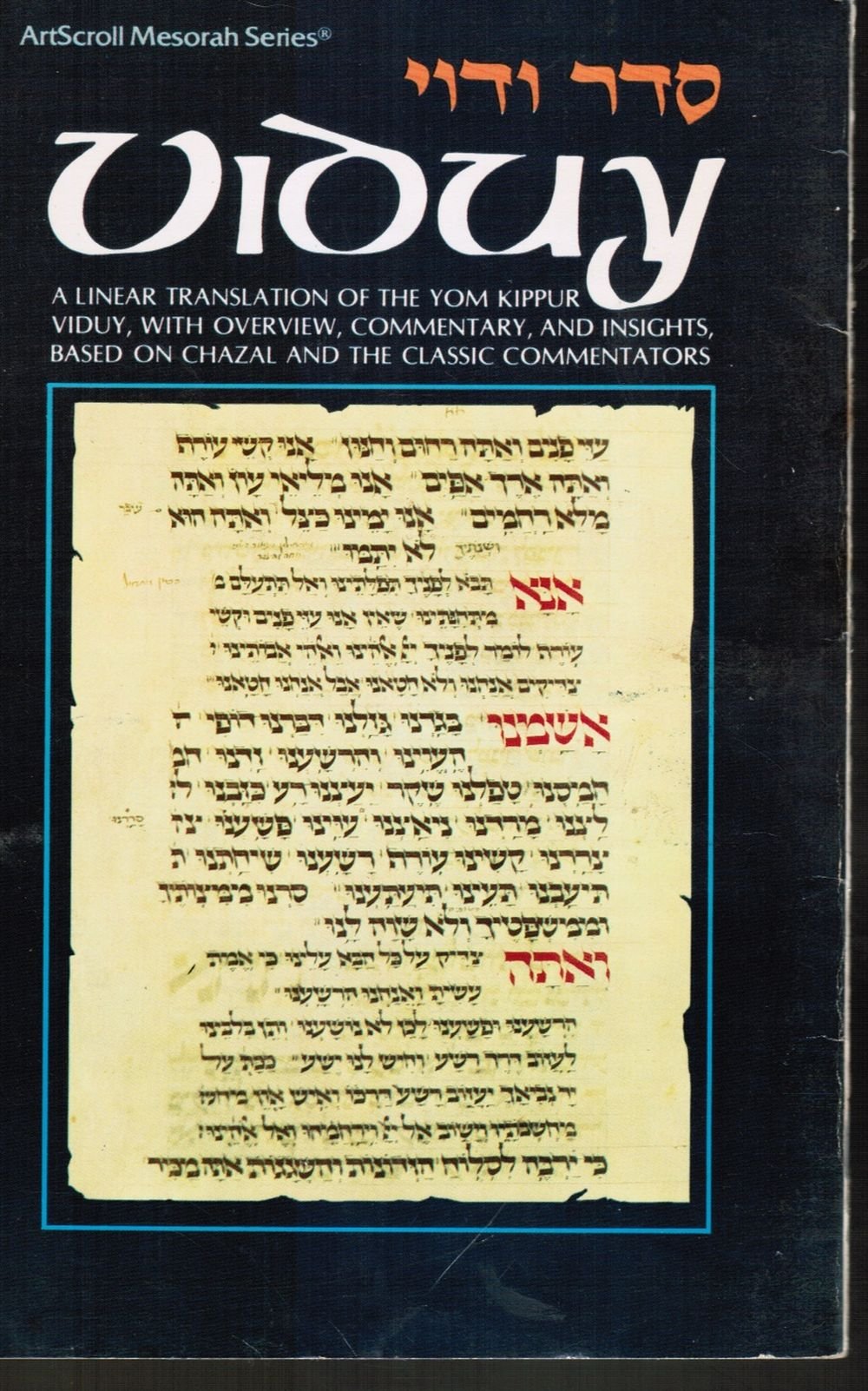 Image for Viduy:  A Linear Translation of the Yom Kippur Viduy