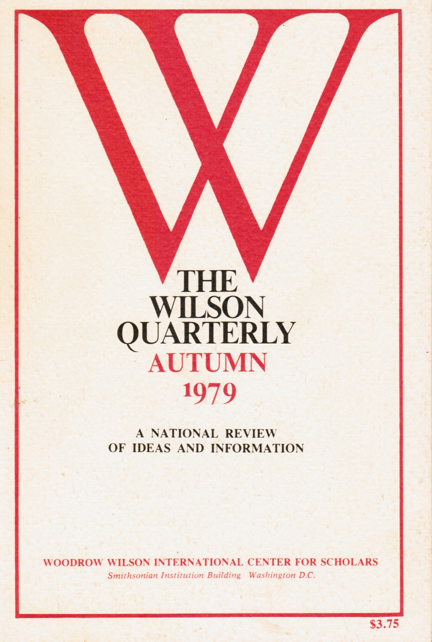 Image for The Wilson Quarterly : Autumn 1979 - Vol 3, No. 4 Taiwan, Sociobiology, Public Schools, Freud, Charles Dickens