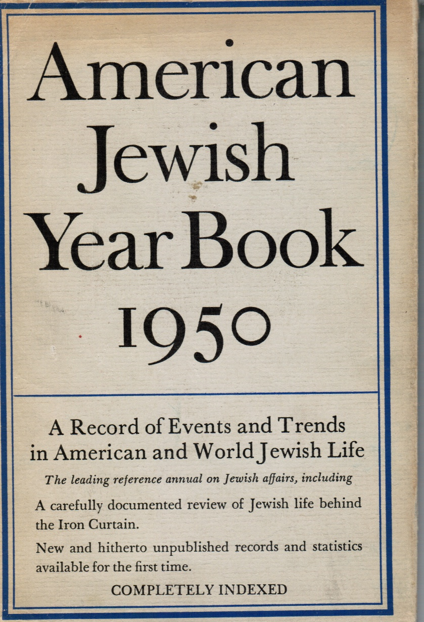 Image for American Jewish Year Book 1950 -- Volume 51