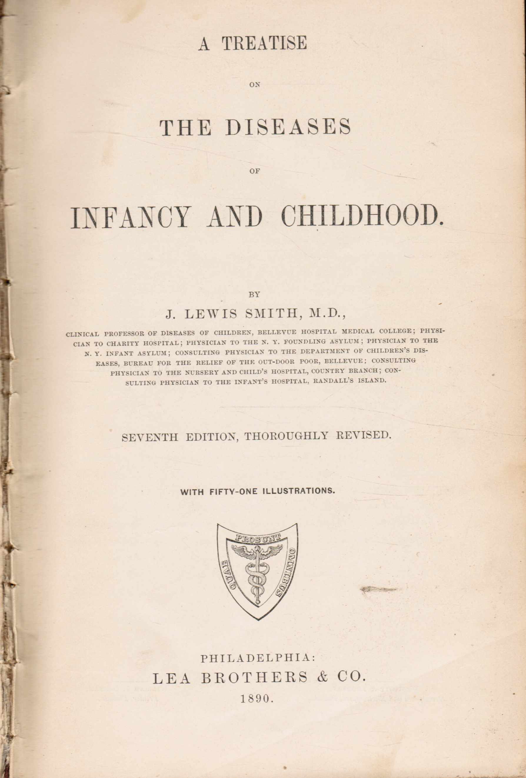 Image for A Treatise on the Diseases of Infancy and Childhood