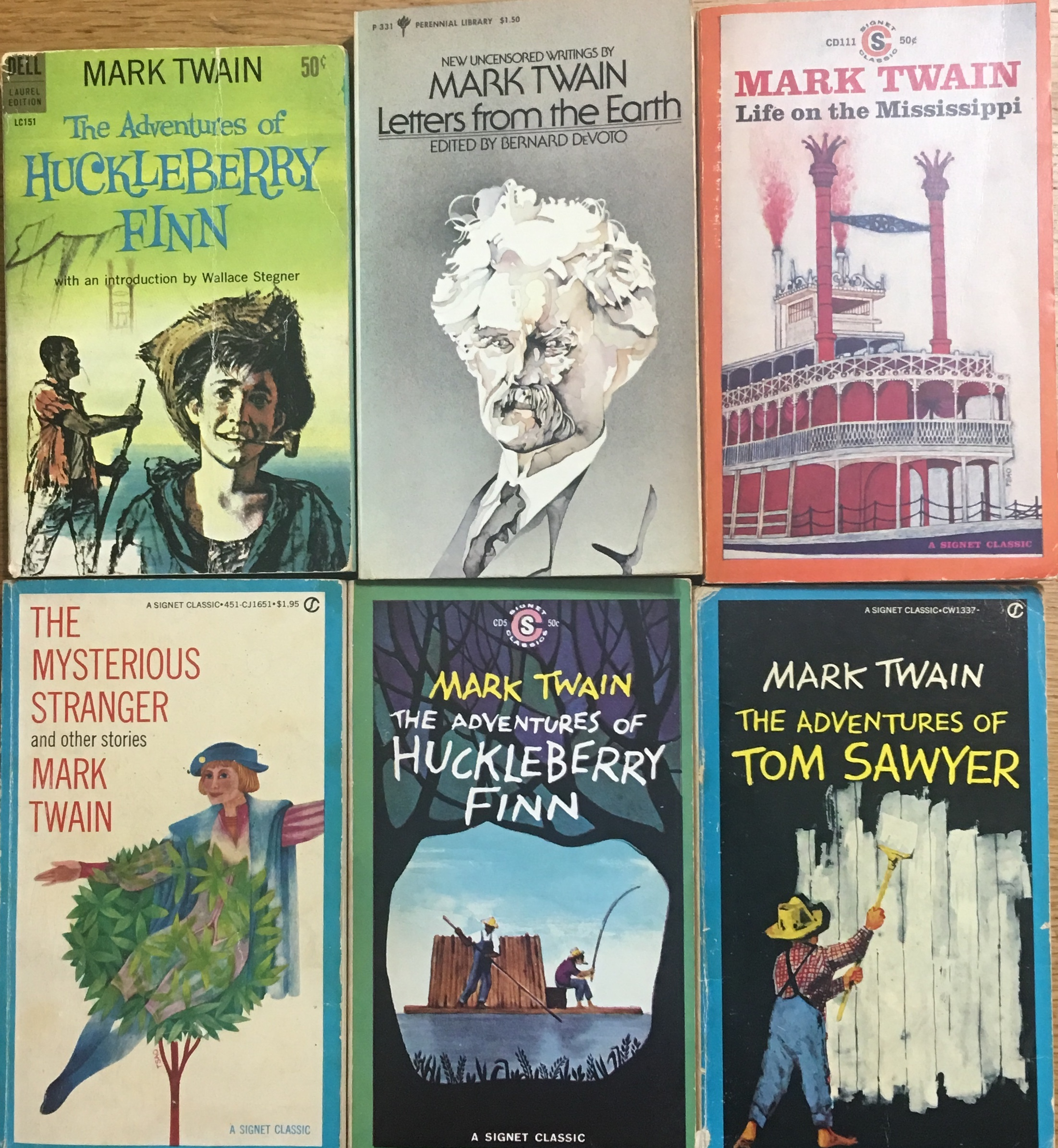 Image for 7 Mark Twain Books: the Adventures of Huckleberry Finn; Letters from the Earth; Life on the Mississippi; the Mysterious Stranger and Other Stories, the Adventures of Huckleberry Finn, the Adventures of Tom Sawyer, the Innocents Abroad, Roughing It