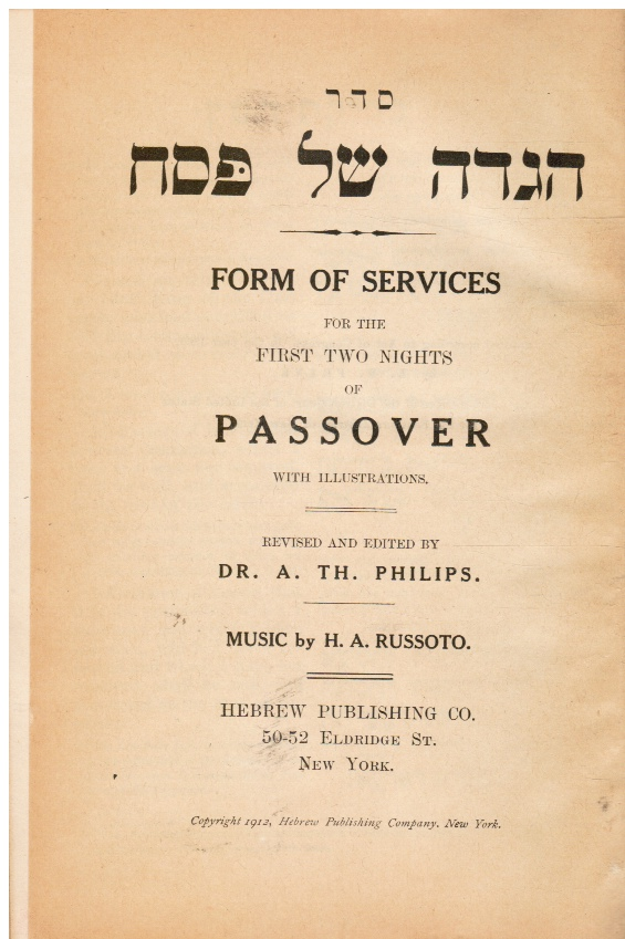 Image for Seder Hagadah Shel Pesah : Form of Services for the First Two Nights of Passover : with Illustrations
