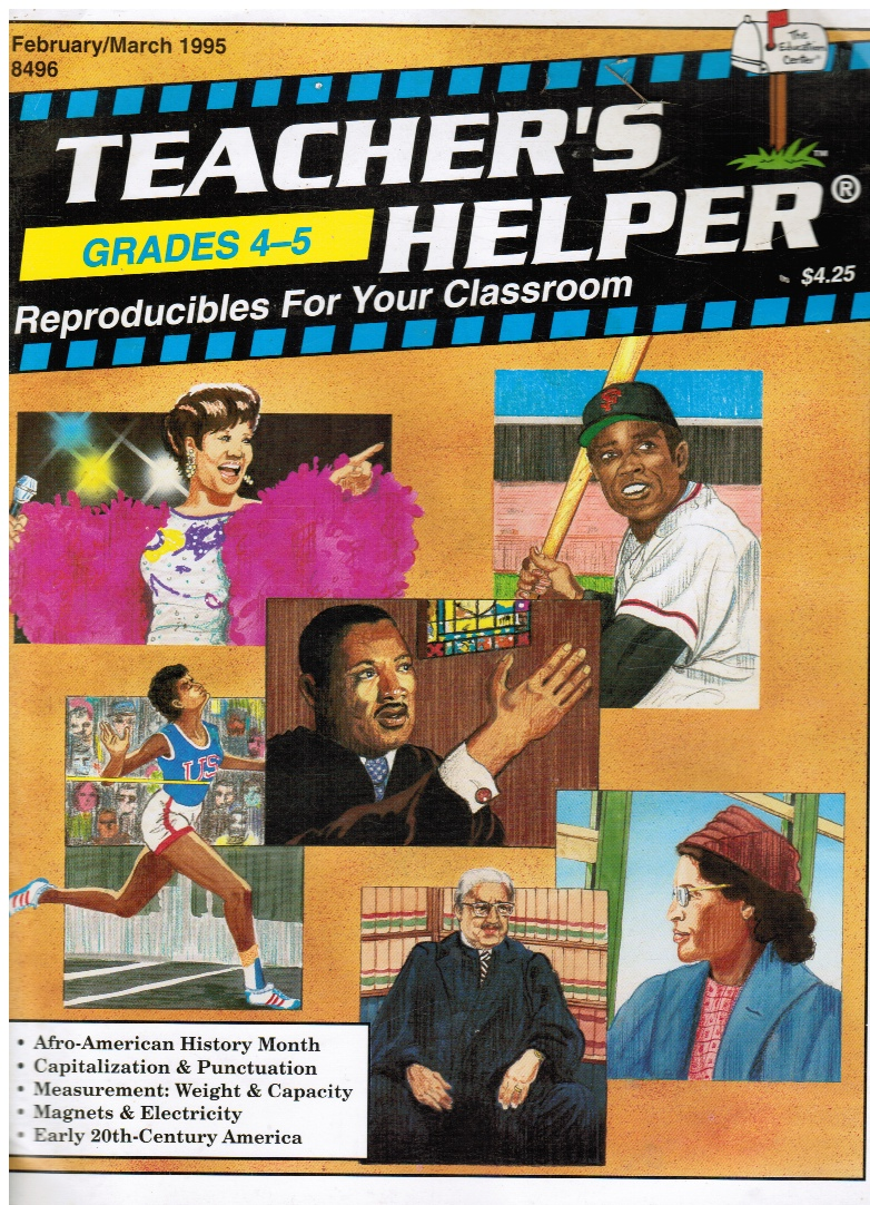 Image for Teacher's Helper - Grades 4-5 - Reproducibles for Your Classroom Feb/march 1995