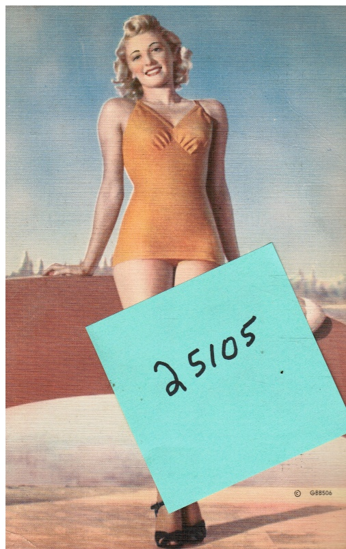 Image for Giant Post Card: Pin-Up Bathing Beauty (GBB505)