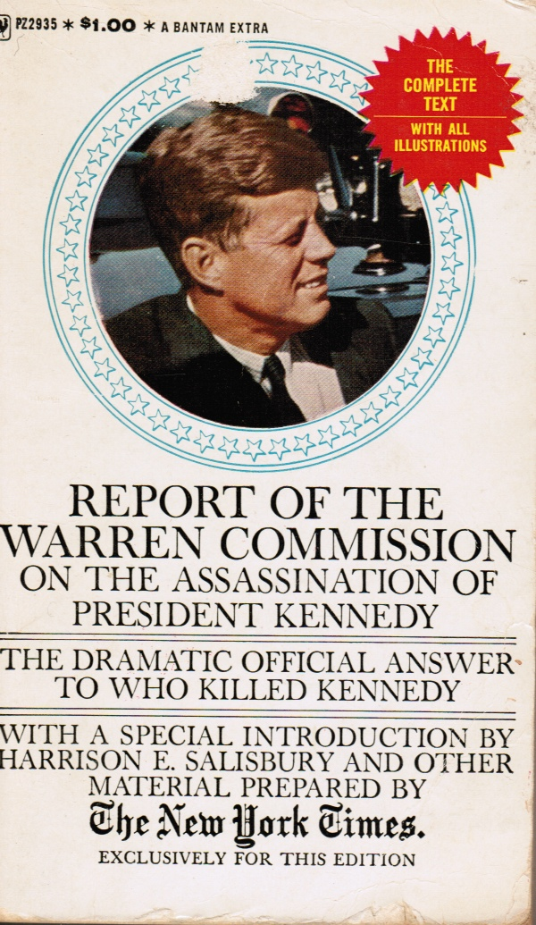 Image for Report of the Warren Commission on the Assassination of President Kennedy