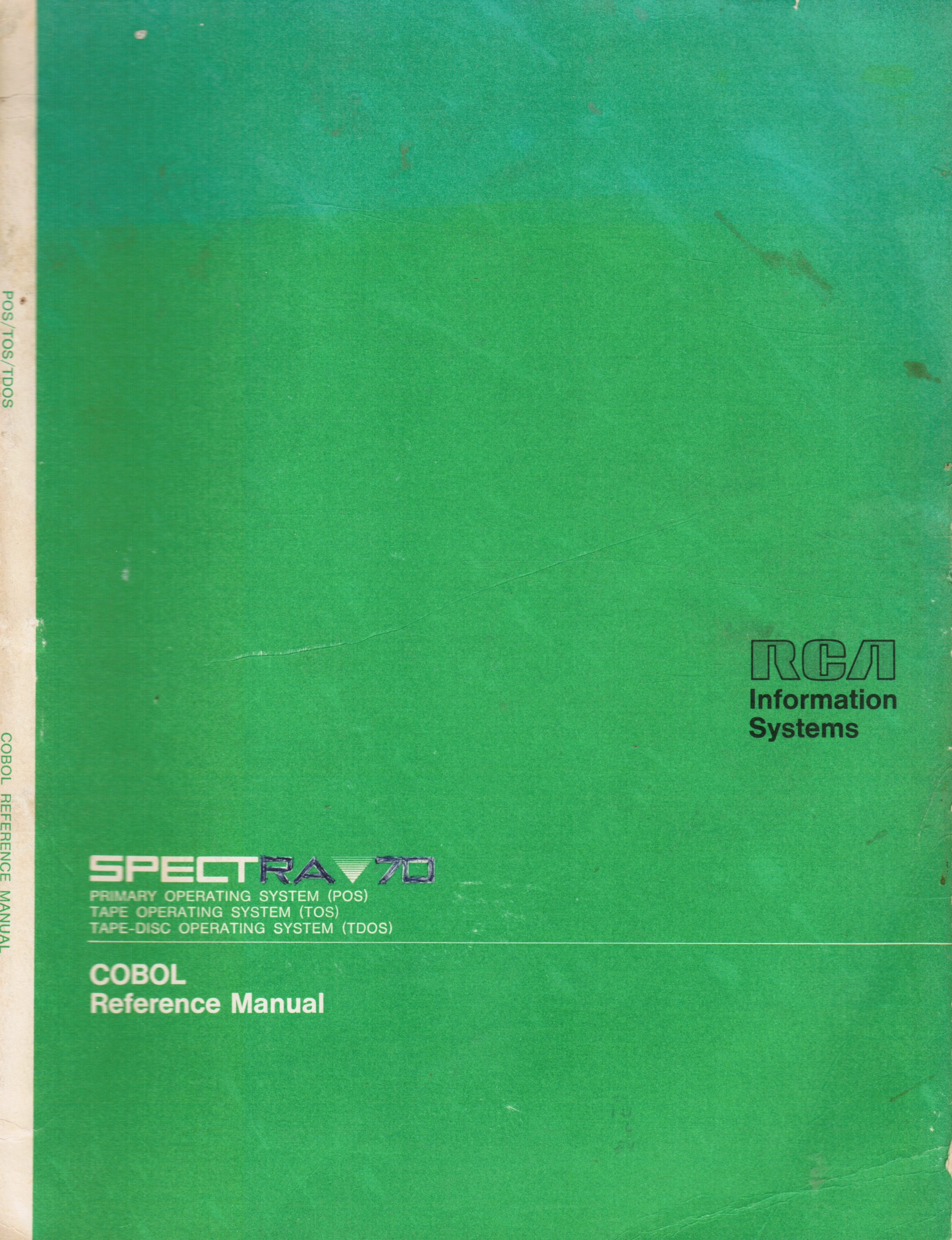 Image for SPECTRA 70: Cobol Reference Manual