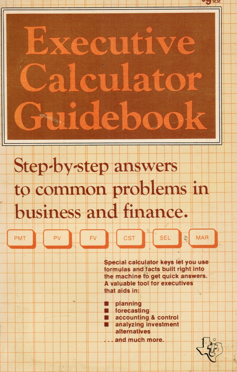 Image for Executive Calculator Guidebook