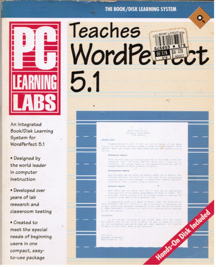 Image for Pc Learning Labs Teaches Wordperfect 5.1 (with Disk)