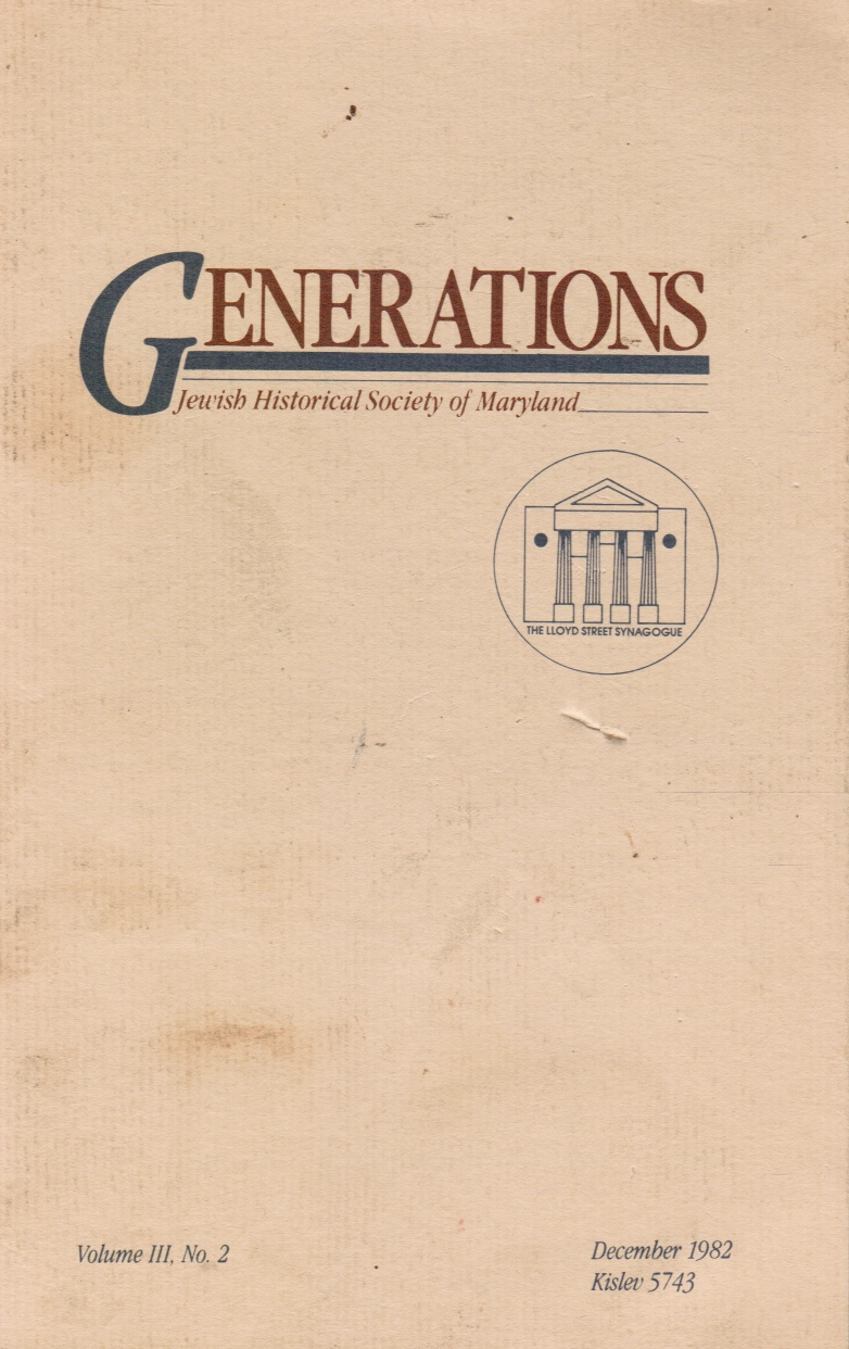 Image for GENERATIONS Cone Sisters, Marion Buchman, Louis Shub, Reuben Kramer, Comissiona