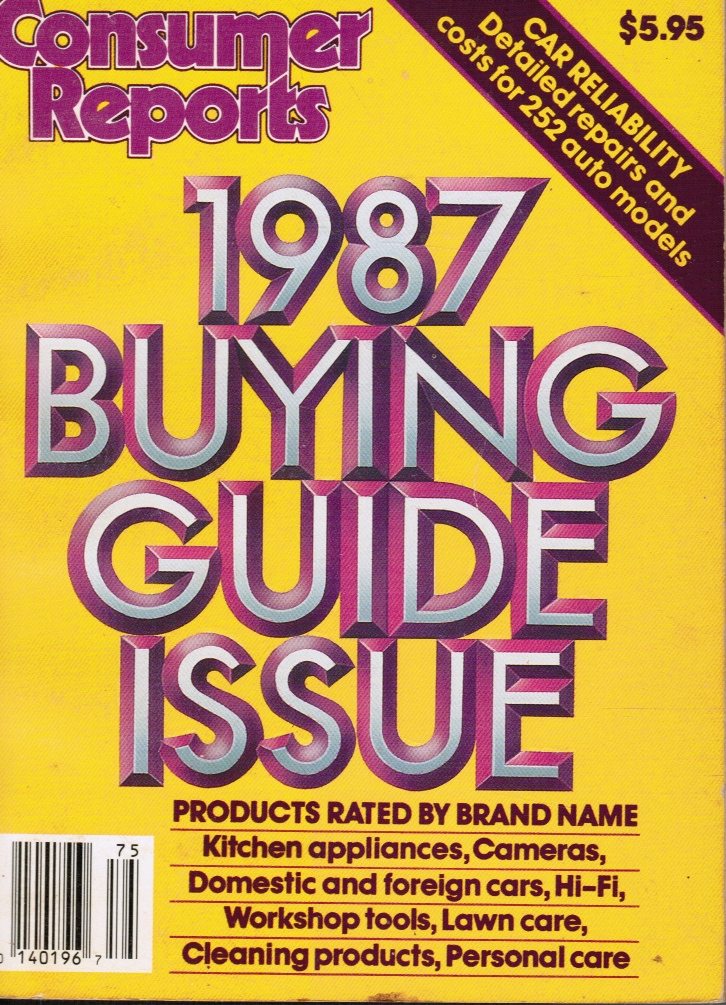 Image for Consumer Reports 1987 Buying Guide Issue
