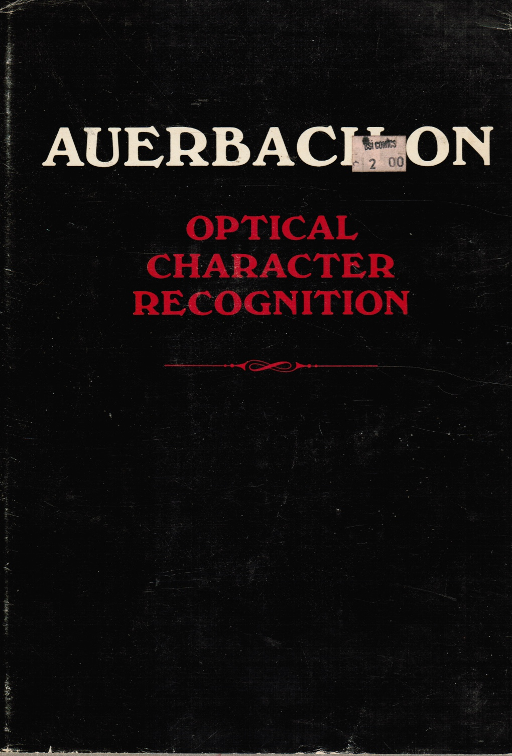 Image for Auerbach on Optical Character Recognition