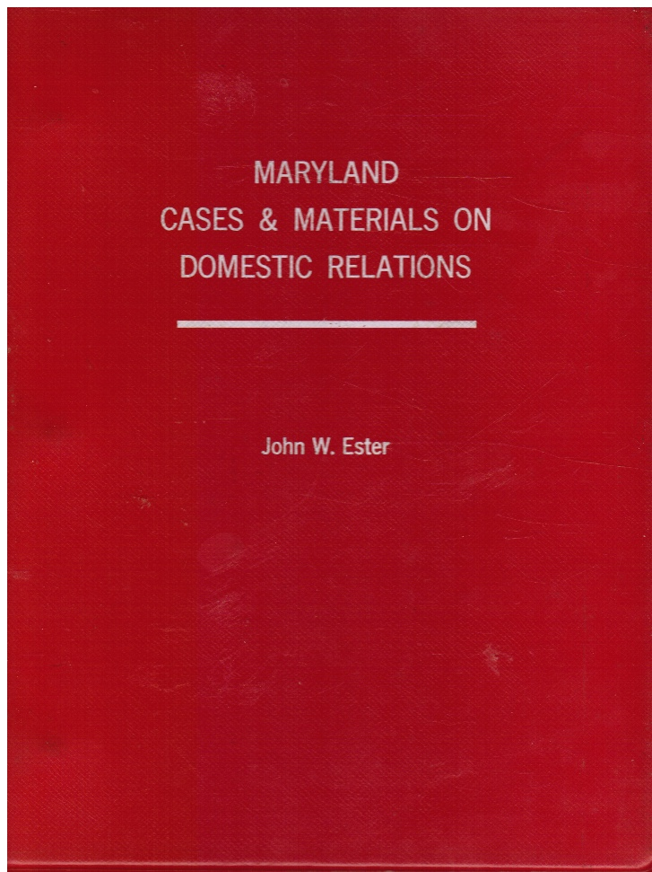 Image for Maryland Cases & Materials on Domestic Relations