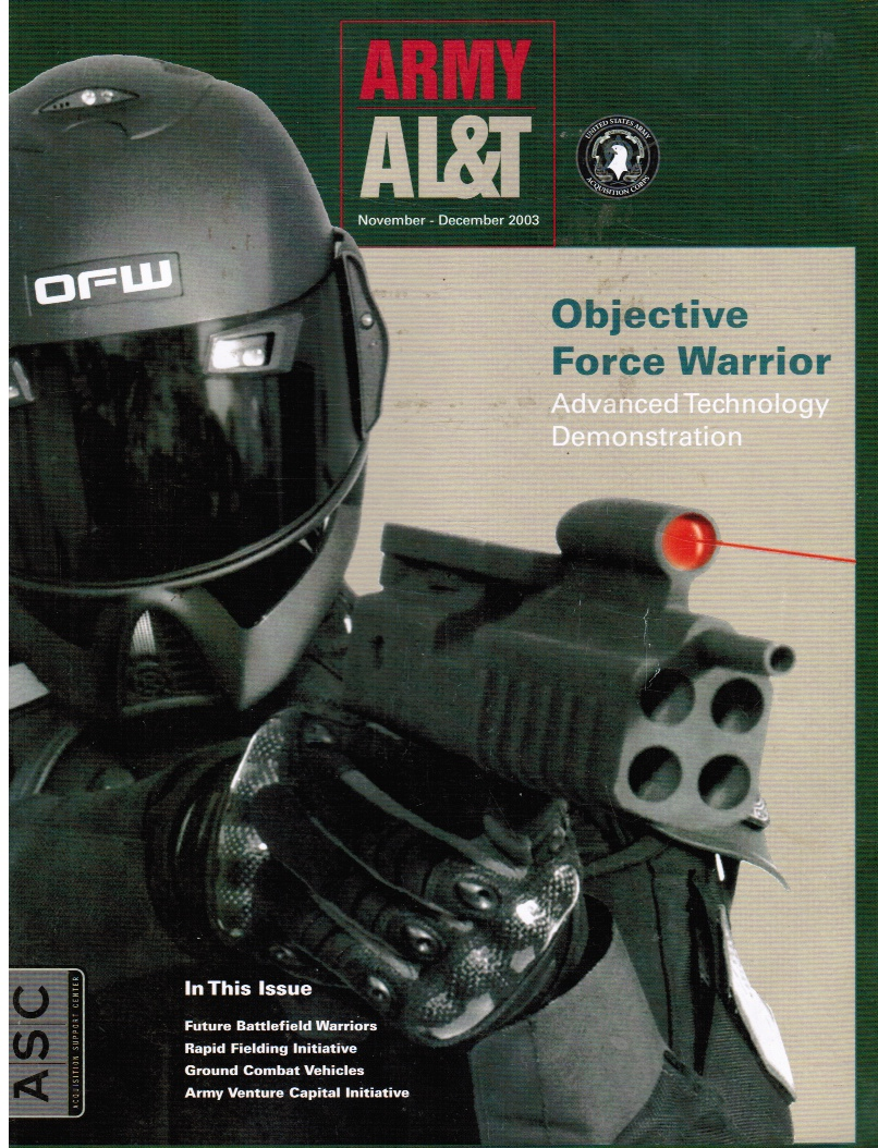 Image for ARMY AL & T, Acquisition, Logistics & Technology: Nov - Dec 2003 Objective Force Warrior (Cover)