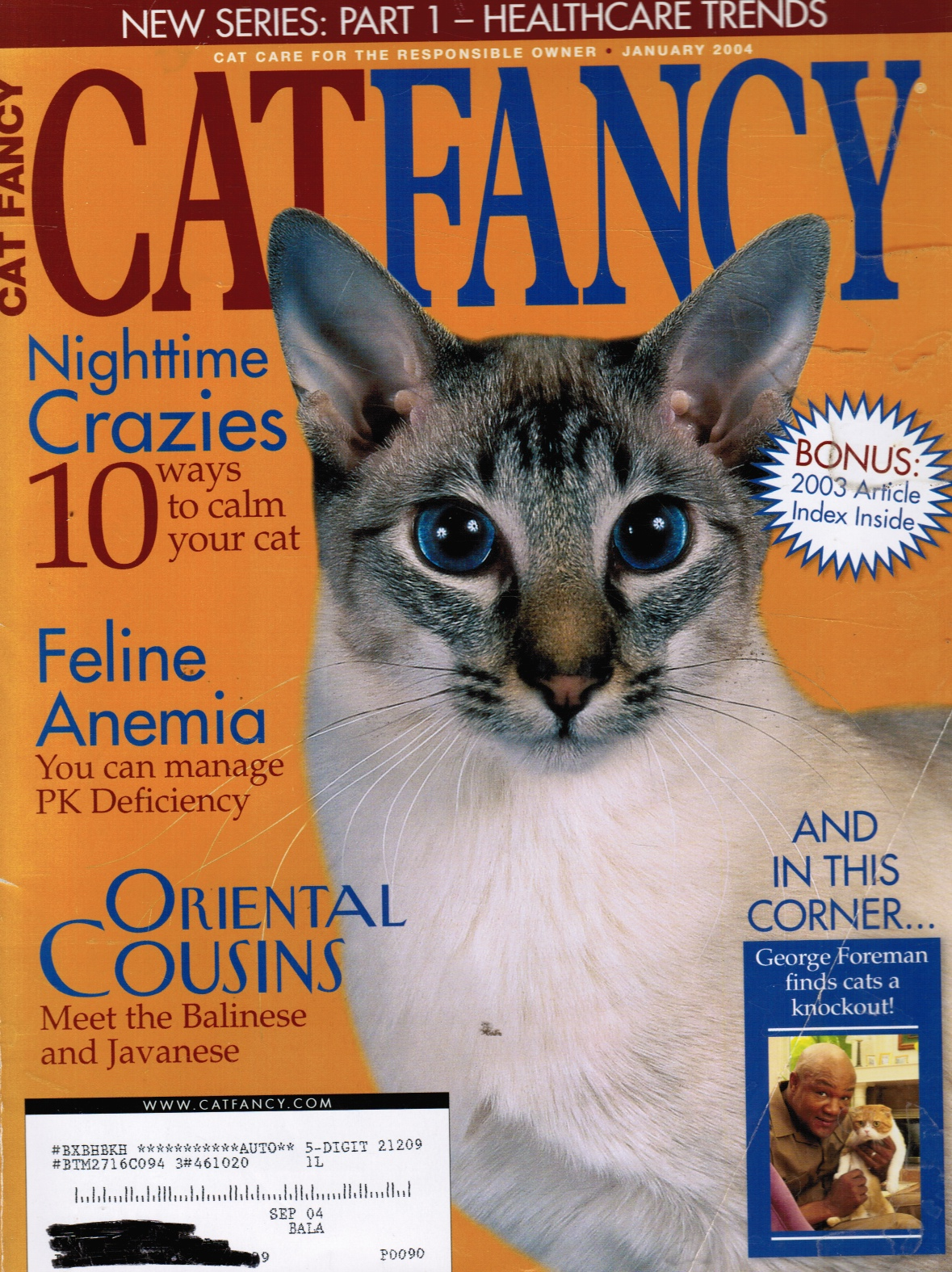 Image for CAT FANCY Magazine: January 2004