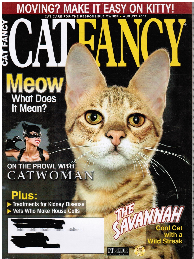 Image for CAT FANCY Magazine: August 2004 Catwoman