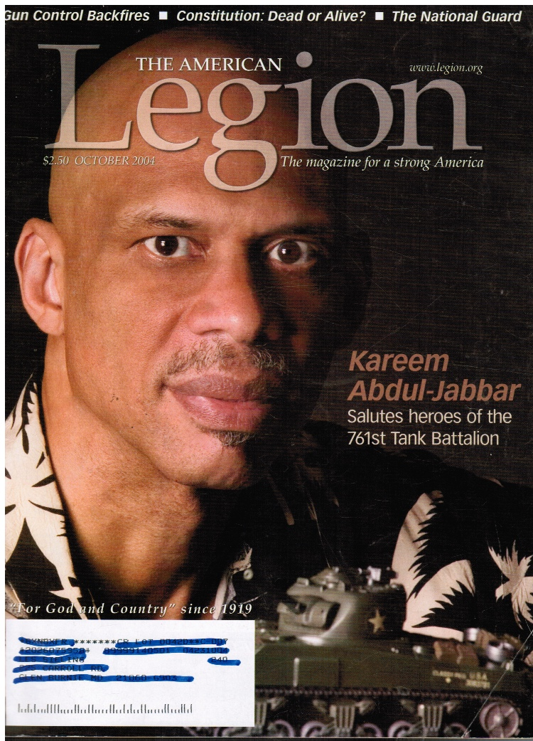 Image for The American Legion Magazine: October 2004 Kareem Abdul-Jabbar (Cover)