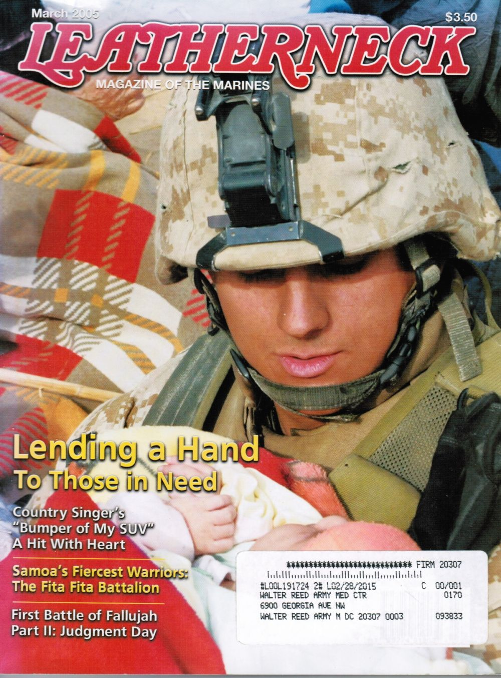 Image for Leatherneck Magazine of the Marines George W. Bush, Samoan Battalion, Chely Wright
