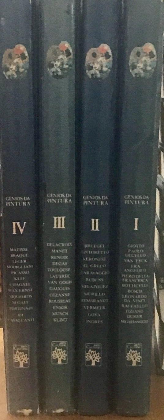 Genios Da Pintura: (4 Volumes) Volumes 1, 2, 3, and 4 Modigliani, Durer, Picasso, Chagall, Van Gogh, Cezanne, Matisse, Giotta, Etc
