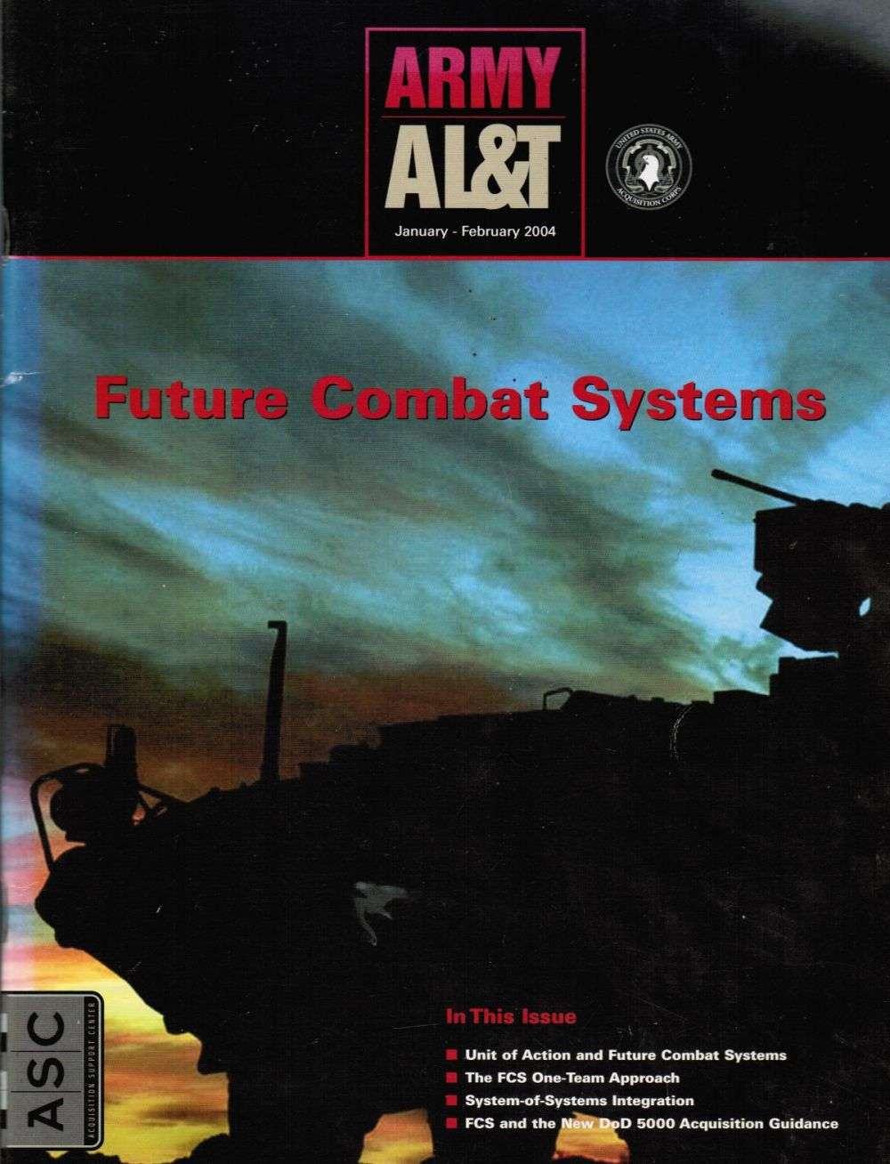 Image for Army AL & T - January - February 2004 Future Combat Systems (Cover Story)